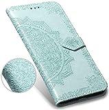 Robinsoni Cover Compatibile con Huawei Y9 2018 Case Scintillare Glitters Lucido Portafogli...
