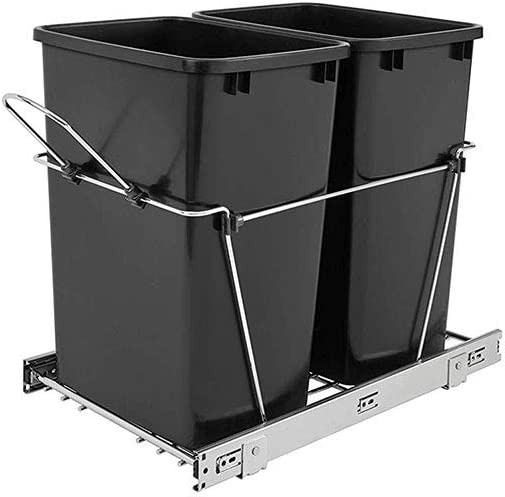 Rev-A-Shelf Don't miss the campaign RV-18KD-18C S Double 35 Pull-Out Sliding Waste Directly managed store Quart