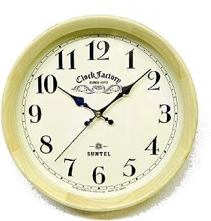さんてる(Suntel) 掛け時計 ブラウン Φ28.5×6.4cm