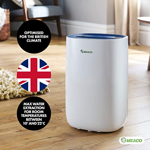 Meaco MeacoDry Dehumidifier ABC Range 10L NB (Blue) Ultra-Quiet, Energy Efficient, Laundry Mode, Auto-Off, Auto De-Frost - Ideal for Damp and Condensation in the Home