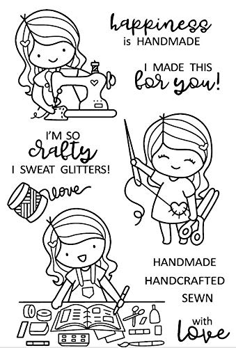 Girl Clear Silicone Stamps for DIY Scrapbooking/Card Making/Kids Christmas Decoration Supplies Popular A124