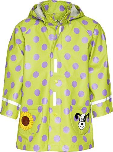 Playshoes Mädchen Regen-Mantel große Punkte Regenmantel, Grün (original), 116
