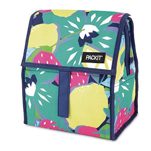 Packit Freezable and Foldable Kühltasche mit Gelfutter und Reißverschluss, Fruitopia