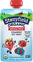 Stonyfield Organic Kids Strawberry Beet Berry Whole Milk Yogurt Pouch, 3.5 oz., Single Serve – Real