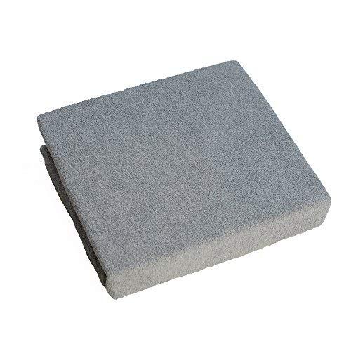 Drap-Housse en Tissu Éponge pour Lit Bébé 120x60 cm - Gris