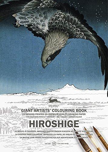 Pepin Hiroshige Carta di Tipo Libro, 42 X 30 cm: giant artists' colouring book