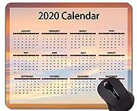 2020カレンダーゲーミングマウスパッドカスタム、マルチカラースカイオフィスマウスパッド