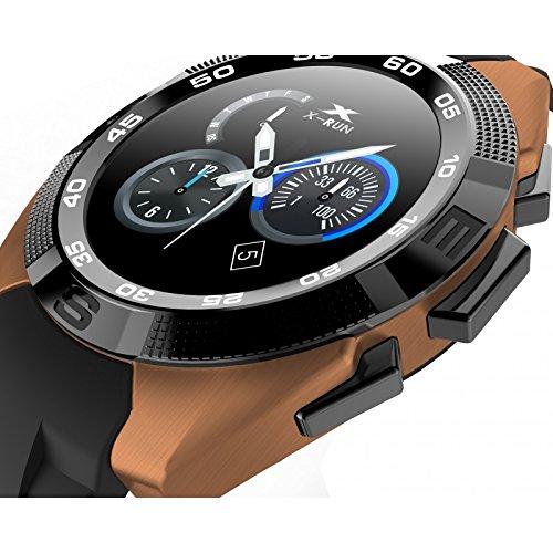 LKM security LKM-OSG5GO Smartwatch Bluetooth con Funzione Cardiofrequenzimetro Contapassi, 5 V, Oro
