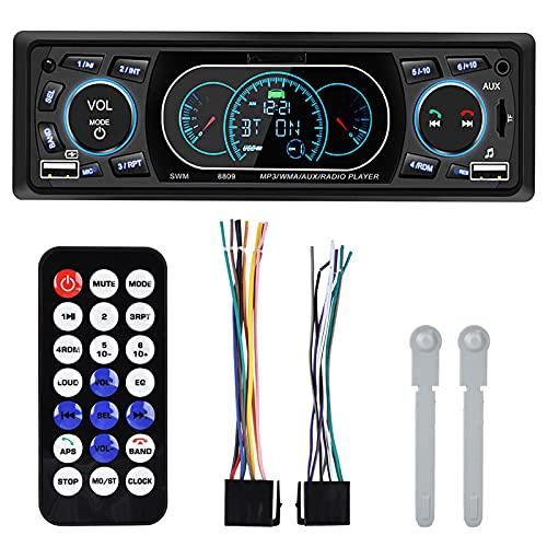 Haofy Reproductor de Radio MP3 Manos Libres para automóvil, 4 x 60 W, Gran Potencia, Doble USB, Bluetooth, Manos Libres, Carga rápida, Radio FM para automóvil