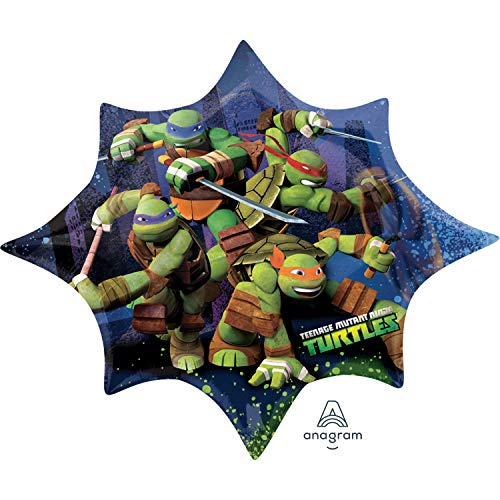 Amscan Anagram 2643001 - Party und Dekoration - Folienballon Super Shape - Teenage Mutant Ninja Turtles, circa 88 x 73 cm