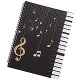 Cartellina per spartiti musicali, cartella per canzoni e documenti, in plastica vuota, formato A4, 30 tasche per musicisti e banda, impermeabile, per riporre fogli (A)