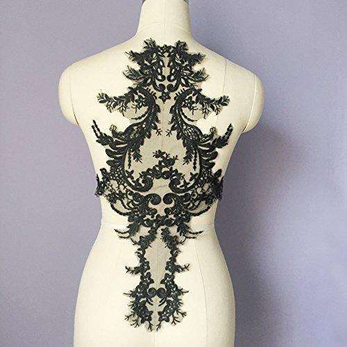 USJee Embroidered Lace Patches forWeddingDressApplique Collar Decor