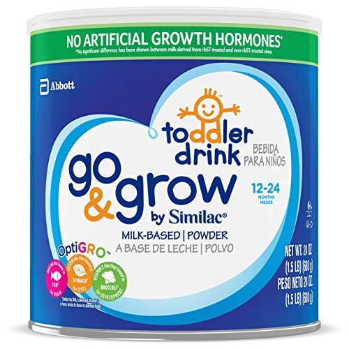 Go & Grow by Similac Milk-Based Toddler Drink, Powder, 24 oz (Pack of 6)
