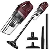 Cordless Vacuum SOWTECH 6 in 1 Cyclonic Suction Lightweight Handheld Vacuum Cleaner with Stainless Steel Filter (Bagless) Rechargeable Lithium Ion - Red
