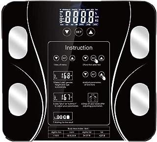 L.BAN Básculas electrónicas Inteligentes Populares, Peso Corporal Digital, Índice Corporal de baño Báscula Digital de Grasa Corporal, Báscula Inteligente de 180 kg, Peso Humano My Scales Pantalla