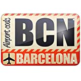 KE OU Airportcode BCN Barcelona Poster Tin Sign Cafe Bar Club Pub Home Decor Wall Art Sticker