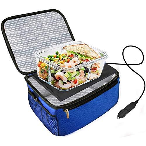 Calentador De Alimentos para Automóvil, Mini Horno De 12V, Fiambrera Eléctrica con Calefacción, Que Se USA para Recalentar Comidas para Viajes por Carretera/Camping/Picnic/Reunión Familiar,Azul