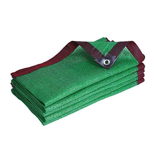 YLL Filet D'ombrage 6 Broches Ombrage 90% Renforce Épaissir Voile Ombrage, Serres Filet Coupe-Vent avec Oeillets, pour La Couverture Végétale/Serre/Jardin/Pergola(Vert),2x4m(7 * 13ft)
