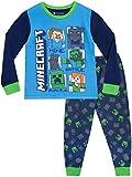 Minecraft Pijamas de Manga Larga Steve y Creeper para Niños Multicolor 12-13 Años
