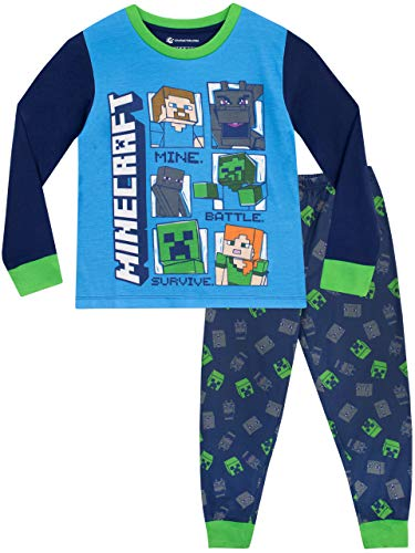 Minecraft Jungen Schlafanzug Steve und Creeper Mehrfarbig 122