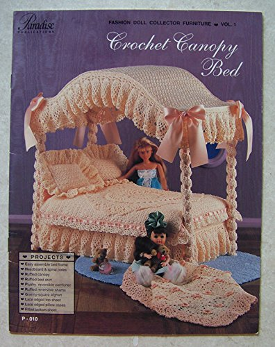 Paradise Vol 1 Canopy Bed Crochet Pattern Fashion Doll Furniture