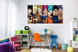 Cuadros PVC Dragon Ball Super Fases de Goku |135x60cm | Producto Oficial y Original | Cuadros Ligero, Elegante, Resistente y Económico | DBS