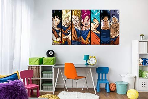 Cuadros PVC Dragon Ball Super Fases de Goku  100x60cm   Producto Oficial y Original  ...