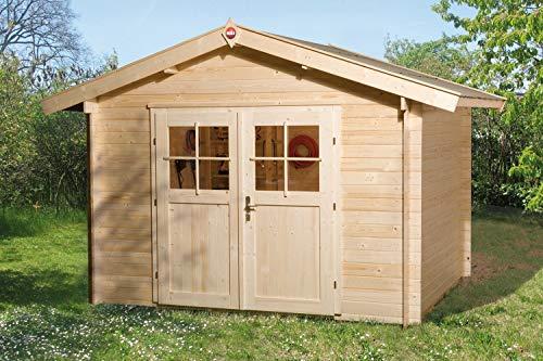 Weka Gartenhaus 112 Gr 6 Vordach 20 cm