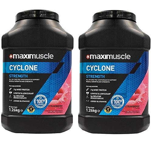 Maximuscle Cyclone - 1.26kg - Strawberry Twin Pack