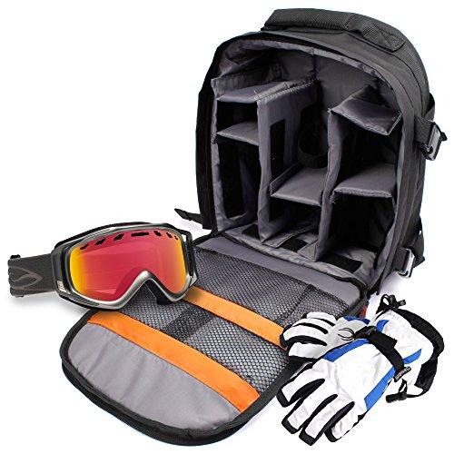 Zaino Per Salvare / Organizzare Accessori Da Sci | Snowboard - Include Custodia Impermeabile - Con Scomparti Interni - DURAGADGET