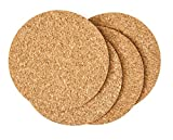 Cork Drink Coasters 1/8' Thick 30 Pack - Home Bar and Kitchen Essential - Blank Reusable Absorbent Eco-friendly DIY Project Tile Craft Board - Restaurant Cafe Wedding Supplies and Accessories