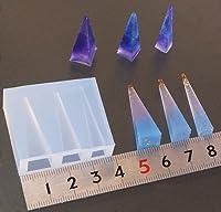〈UVクラフトレジン〉 (S420)シリコンモールド 四角錐 ピラミッド型 筒 3サイズ展開