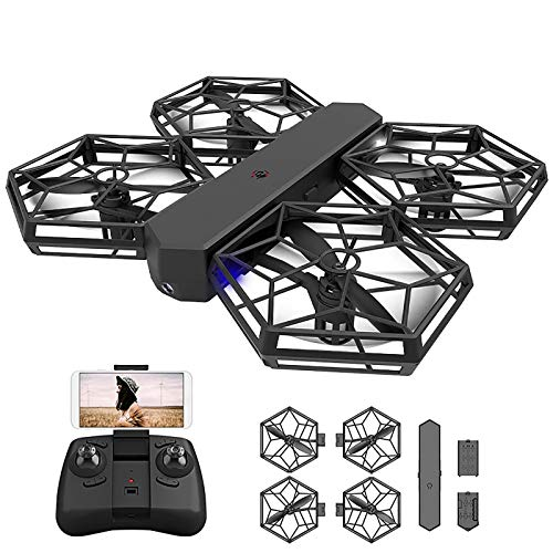 tyuiop 2.4G RC Quadcopter Drone with HD Camera, Fixed Height Mode WiFi FPV Live Video, DIY Assembly and Modularization, High, Middle and Low Speed, Controlling Distance About 50 Meters