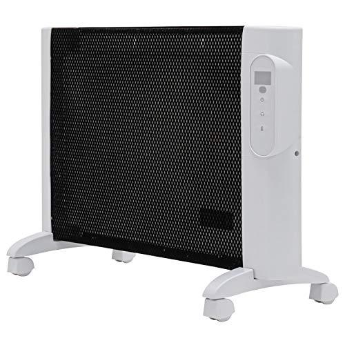 SUNRIZE キャスター付き 遠赤外線 マイカパネルヒーター リモコン付き 静音 省エネ 節電 エコ 暖房器具 足元暖房 (ホワイト)