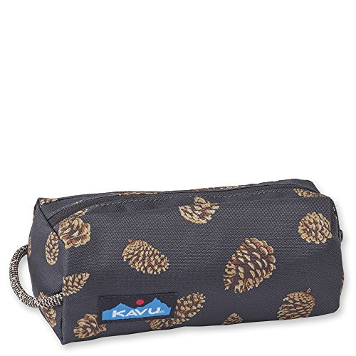 KAVU Pixie Pouch Accessory Travel Toiletry and Makeup Bag - Pine Cones