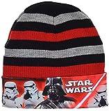Disney Sombrero Star Wars Darth Vader para niños de diferentes tamaños (Rojo-Negro, 52)