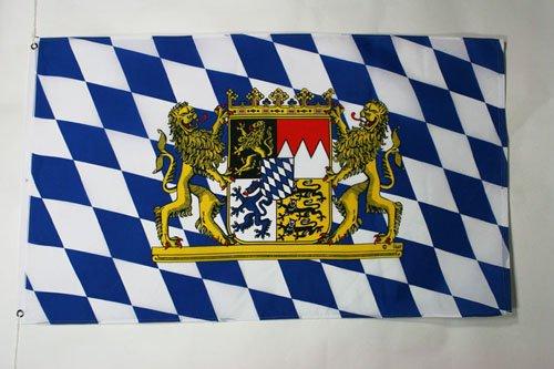 AZ FLAG Flagge Bayern MIT LÖWEN 90x60cm - Bayern MIT LÖWEN Fahne 60 x 90 cm - flaggen Top Qualität