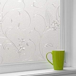 Película de ventana decorativa esmerilada en 3D. Película de vidrio para puerta de pasta electrostática autoadhesiva, lámina opaca para ventana de decoración del hogar de privacidad A27 45x200cm