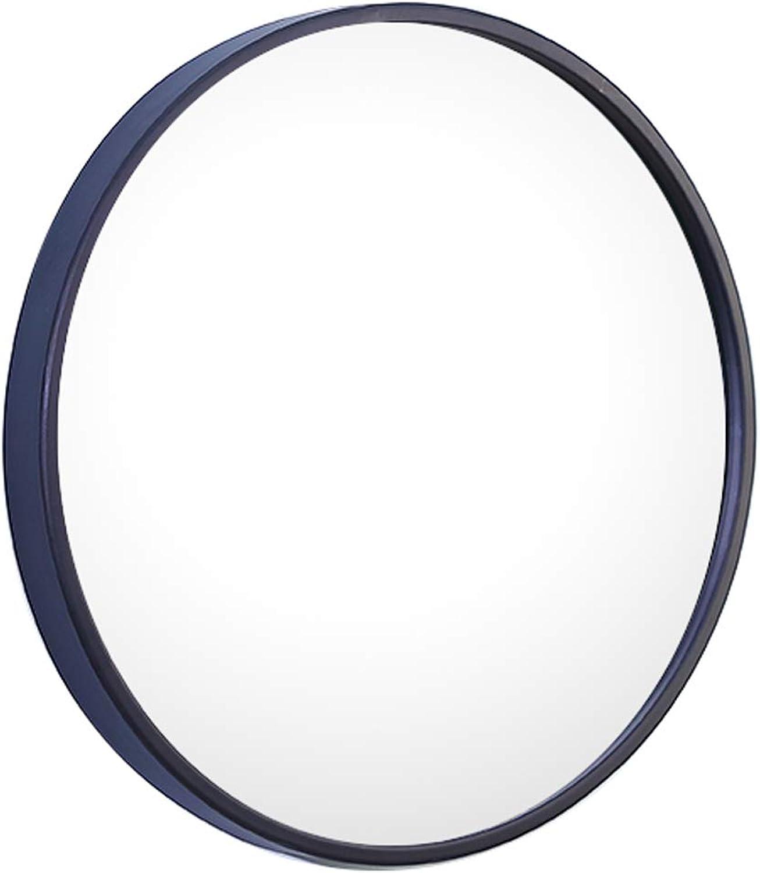 Bathroom Mirror Large Black Circle Frame Wall Mirror Premium Floating Round Glass PanelDecorative Makeup Vanity Dressing Living Room Bedroom