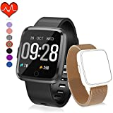 HuaWise Fitness Wrist Watch with Fitness Tracker, Bluetooth Sports Watch Activity Tracker Pedometer