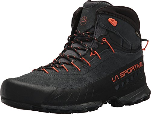 La Sportiva TX4 MID GTX Hiking Shoe - Men's, Carbon/Flame, 44.5