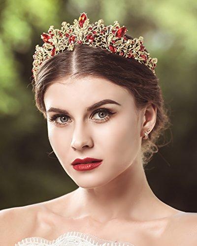 Coronas de boda y tiaras de princesa, cristal, para fiesta, accesorios de pelo para mujer, de Jovono