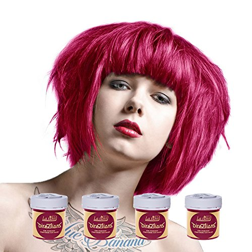 La Riche Directions Semi-Permanent Hair Colour Dye Box Of Four-Flamingo Pink by La Riche