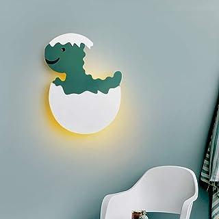 Risjc Lámpara de pared LED de 7W niños aplique la cabecera del dinosaurio verde ligero de la pared de la sala Comedor Dormitorio Iluminación de interior lectura del accesorio ligero Pasillo de pared I