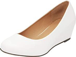 Cambridge Select Women's Closed Round Toe Slip-On Low Wrapped Comfort Wedge