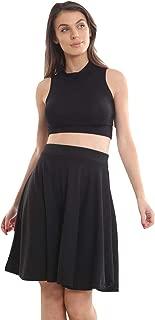 Momo&Ayat Fashions Ladies Tartan Leopard Pleated Waist Band Flared Swing Skater Skirt AUS Size 8-30