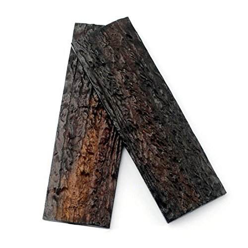 RECHERE 2PCS POM Resin Imitation Sambar Stag Antler Horn Knife Scales Handle for Sword Knives Making 130x42x7.5mm