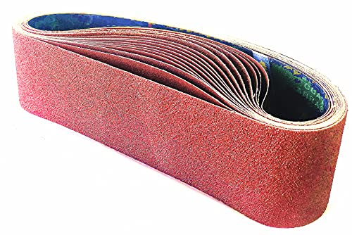 Bandas de Lija 100 x 915 mm(15 piezas), Banda Abrasiva 3 x grano 80/120/150/240/400 para Lijadora de Banda para Pulir Bandas de lijado