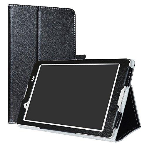 Lenovo Tab 4 8 Funda,LiuShan Folio Soporte PU Cuero con Funda Caso para 8.0' Lenovo Tab 4 8 (tb-8504) (2017) Android Tablet,Negro