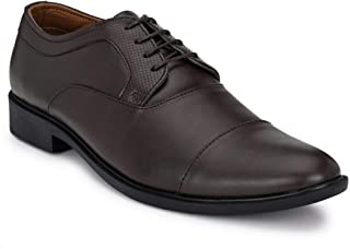 Park Avenue Solid Pattern Brown Coloured Men's Synthetic Formal Shoes